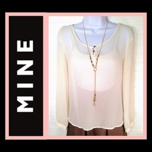 👚 MINE Sheer High Low Blouse